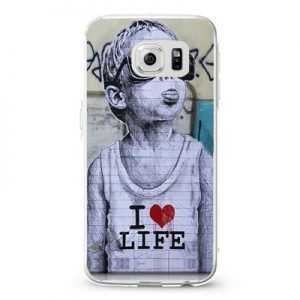 Banksy Baby I Love life Design Cases iPhone, iPod, Samsung Galaxy