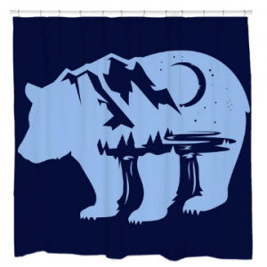 Bearscape Shower Curtain