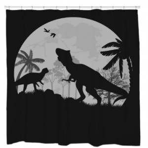 Dino NightShower Curtain
