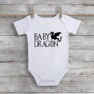 Game Of Thrones Baby Dragon Baby Onesie