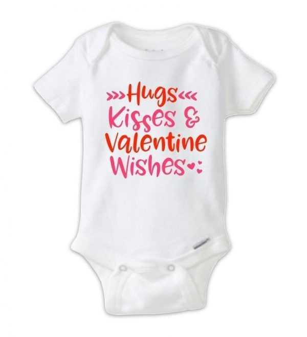 Hugs Kisses & Valentine WishesBaby Onesie