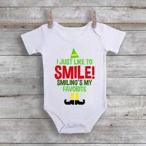 I Just Like To Smile! Smiling's My Favorite Baby Onesie