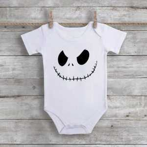 Jack Skellington Inspired Custom unisex Baby Onesie