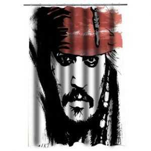 Jack Sparrow Johnny Depp Shower Curtain