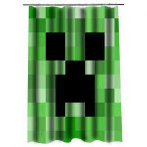 Minecraft 1 Shower Curtain
