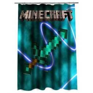 Minecraft Shower Curtain