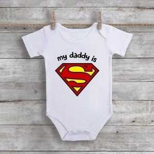 My Daddy Is Superman Baby Onesie