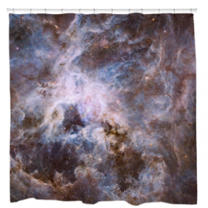 Optical View of Tarantula Nebula Shower Curtain