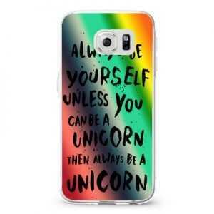 Rainbow Unicorn Quote Design Cases iPhone, iPod, Samsung Galaxy