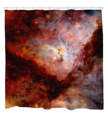 Red Carina NebulaShower Curtain