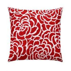 Red Floral AccentPillow Case