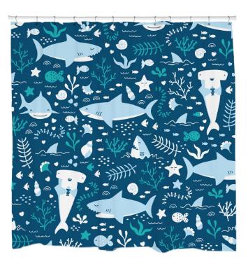 Sharks LifeShower Curtain