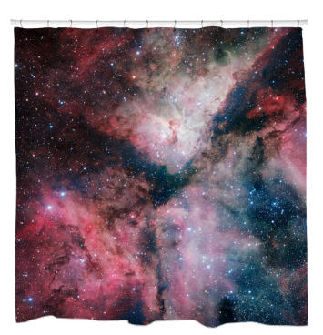 Star-Forming Carina Nebula Shower Curtain