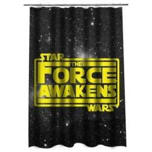 Star Wars The Force Awakens in Yellow Shower Curtain
