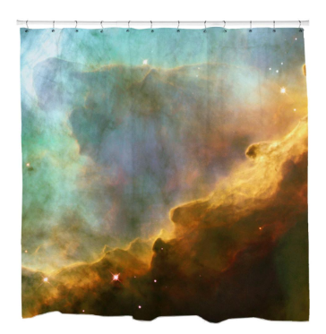Storm in the Swan Nebula Shower Curtain