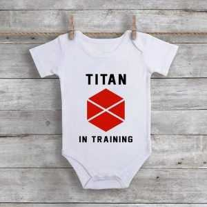 Titan In Training Baby Onesie