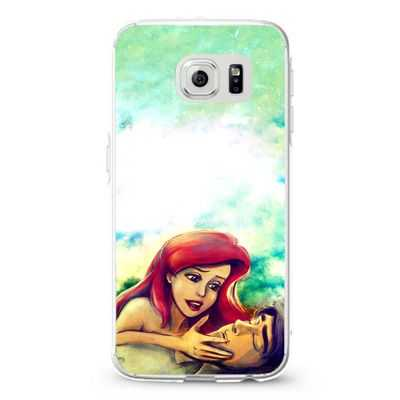 Ariel and eric little mermaid painting galaxy Design Cases iPhone, iPod, Samsung Galaxy