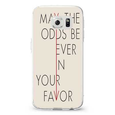 Hunger Games Quote may the odds be ever in your favor 2 Design Cases iPhone, iPod, Samsung Galaxy