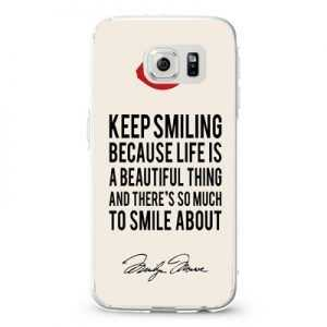 Marilyn monroe smile quote Design Cases iPhone, iPod, Samsung Galaxy