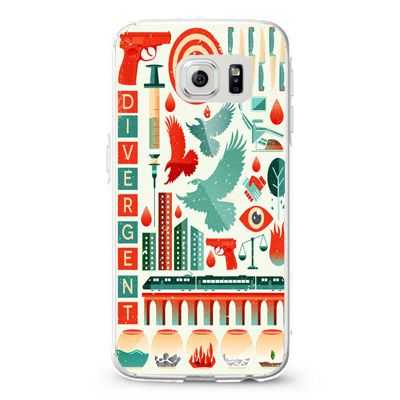 Divergent collage art_4 Design Cases iPhone, iPod, Samsung Galaxy