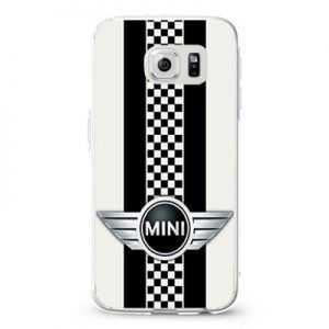Mini Cooper Style Checkers with Black Stripes Design Cases iPhone, iPod, Samsung Galaxy