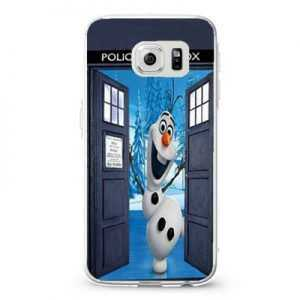Olaf Frozen Tardis Door Design Cases iPhone, iPod, Samsung Galaxy