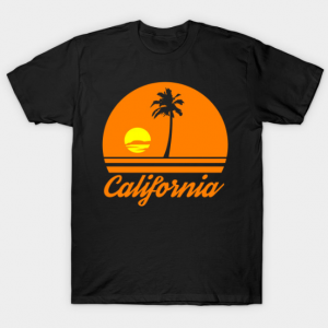 California sunset tee shirt