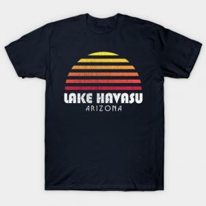 Lake Havasu Retro Vintage Style Distressed Sunset tee shirt