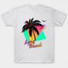 Long Beach Cool 80s Sunset tee shirt