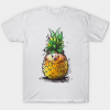 Pineapple hedgehog tee shirt