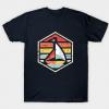 Retro Badge Sailboat tee shirt