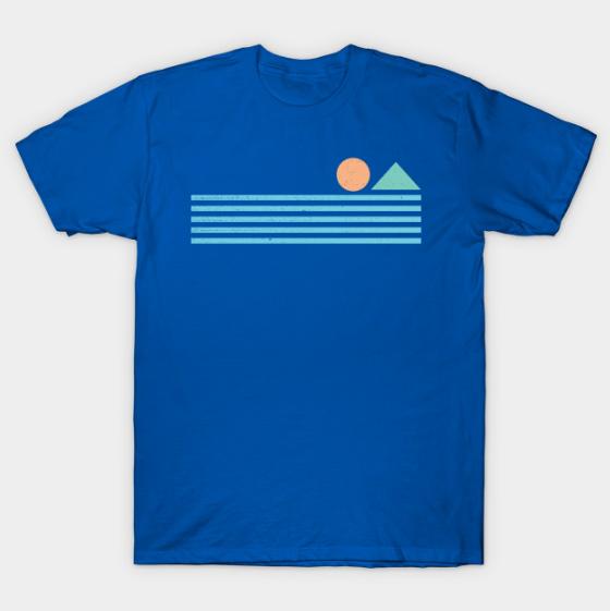 Retro sunrise tee shirt