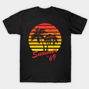 Summer '69 Tropical Sunset tee shirt