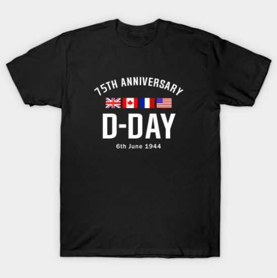 D Day 75th Anniversary tee shirt