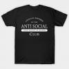 Official member of the Anti Social Club tee shirt