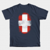 Swiss Flag Souvenir - Distressed Switzerland Design tee shirt
