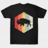 Vintage Retro Bison Buffalo tee shirt