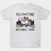 Vintage Yellowstone National Park Wyoming Mountains Bison tee shirt