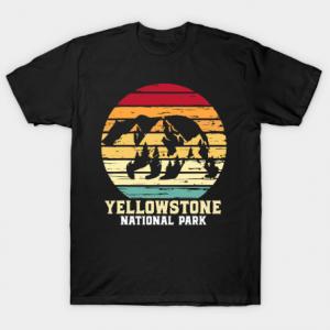 Yellowstone National Park Bear tee shirt