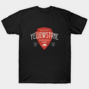 Yellowstone red tee shirt