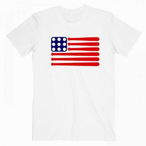 Baseball American Flag tee shirt