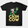 CASH COW Moneymaker stake Trader Broker funny gift tee shirt