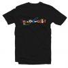 DRUNK CYCLIST RANSOM NOTE tee shirt