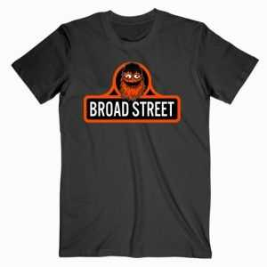 Gritty Mascot Broad Street tee shirt