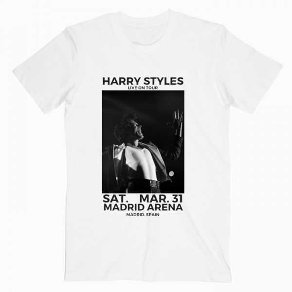 Harry Styles Live in Concert Madrid Spain tee shirt
