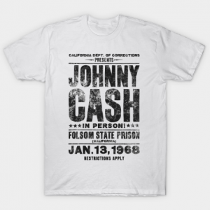 Johnny Cash Concert Tee - Black tee shirt