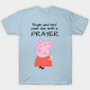 Peppa pig praying tee shirt