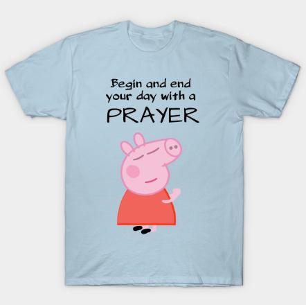 Peppa pig praying tee shirt