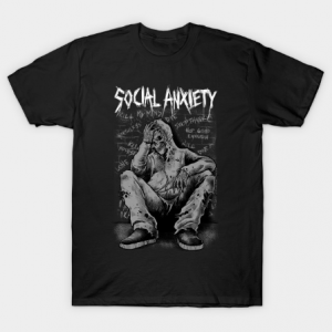 Social Anxiety Art 2 tee shirt
