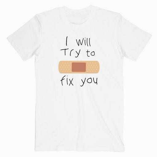 Coldplay I will Try To Fix You tee shirt